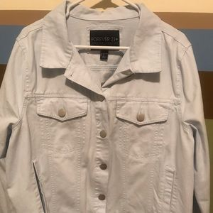 Forever 21 Button Up Jacket - Light Blue 2X